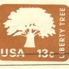 Brown Liberty Tree 13 cent Envelope FDI SC U576 First Day Issue