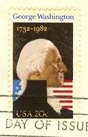 George Washington 20 cent Stamp FDI SC 1952 First Day Issue
