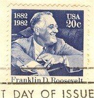 Franklin D Roosevelt 20 cent Stamp FDI SC 1950 First Day Issue