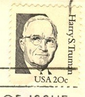 Harry S Truman 20 cent Stamp Great Americans Issue FDI SC 1984 First Day Issue