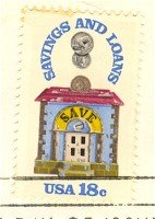 Savings and Loans 18 cent Stamp FDI SC 1911 First Day Issue