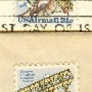 Air Mail Octave Chanute Bi Plane Hang Glider Complete Set 2 stamps 21 cent FDI First Day Issue