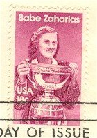 Babe Zaharias 18 cent Stamp American Sports Issue FDI SC 1932 First Day Issue