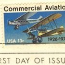 Commercial Aviation 13 cent Stamp FDI SC 1684 First Day Issue