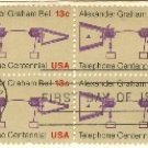 Alexander Graham Bell Telephone Centennial 13 cent Stamp FDI SC 1683 First Day Issue