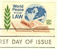 World Peace Through Law 10 cent Stamp FDI SC 1576 First Day Issue