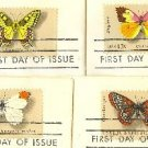 Butterfly Issue Stamps Complete Set with 4 Different stamps FDI First Day Issue