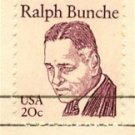 Ralph Bunche 20 cent stamp Great Americans Issue FDI SC 1860 First Day Issue