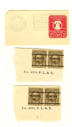 United States Packet No 7516 with 3 stamps
