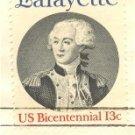 Marquis de Lafayette 13 cent Stamp American Bicentennial Issue FDI SC 1716 First Day Issue