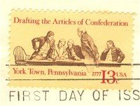 Drafting Articles Confederation 13 cent Stamp American Bicentennial Issue FDI SC 1726 First Day