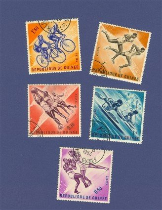 Guinea 5 stamps Olympics