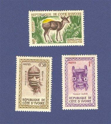 Ivory Coast 3 stamps