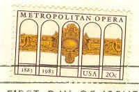 Metropolitan Opera 20 cent Stamp FDI SC 2054 First Day Issue