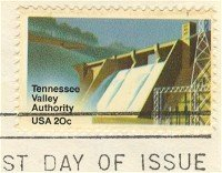 Tennessee Valley Authority 20 cent Stamp FDI SC 2042 First Day Issue