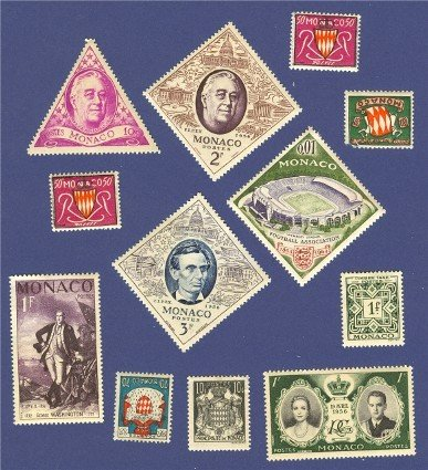 Monaco 10 stamps