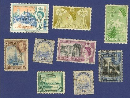 Bermuda 9 stamps Packet No 2398