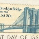 Brooklyn Bridge 20 cent Stamp FDI SC 2041 First Day Issue