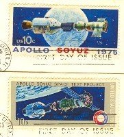 Apollo Soyuz Space Issue Complete Set 2 Stamps FDI First Day Issue