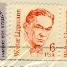 Walter Lippmann 6 cent Stamp Vertical Pair Great Americans Issue FDI SC 1849 First Day Issue