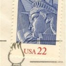 Statue of Liberty 22 cent Stamp FDI SC 2224 First Day Issue