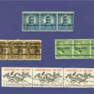 United States Stamps 4 Sets of Horizontal strip of 3  Packet No 34643