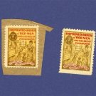 Improved Order of Red Men 2 Stamps