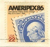 Ameripex 86 International Stamp Show Chicago 22 cent FDI SC 2145 First Day Issue