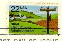 Rural Electrification Administration 22 cent Stamp FDI SC 2144 First Day Issue