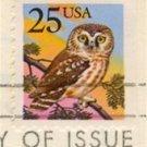 Owl Stamp 25 cent FDI SC 2285 First Day Issue Owl and Groesbeck Booklet Issue