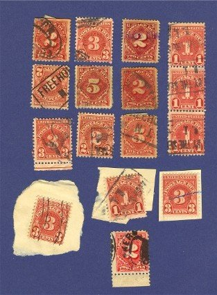 United States 14 Stamps Postage Due   Packet No 40625