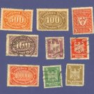 Germany 9 stamps from 1922 to 1924   Packet No 7607
