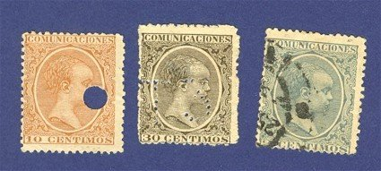 Spain 3 stamps from 1889   Packet No 4680
