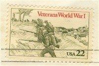 Veterans of World War I stamp 22 cent FDI SC 2154 First Day Issue