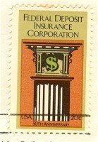 Federal Deposit Insurance Corp Stamp 20 cent FDI SC 2071 First Day Issue