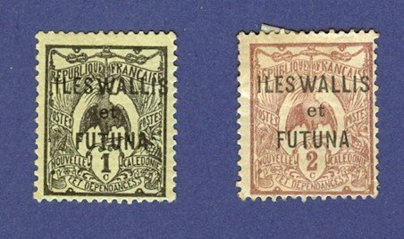 Wallis and Futuna Island  2 stamps 1920 to 1922