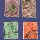 South Africa 4 Stamps from 1913 to 1922  Packet No 3