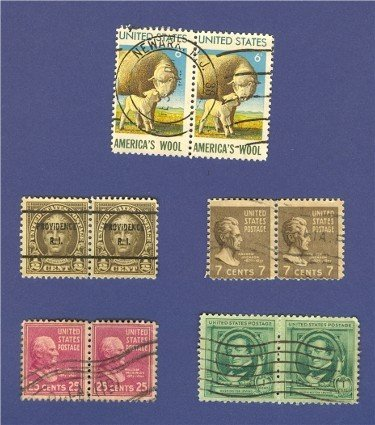 United States Stamps 5 Sets Horizontal Pairs Packet 24639