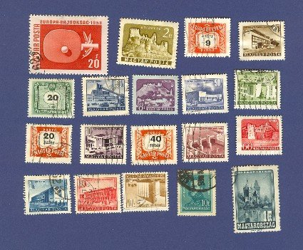 Hungary Packet No 1392 with 19 stamps