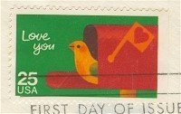 Love You Stamp 25 cent FDI SC 2398 First Day Issue