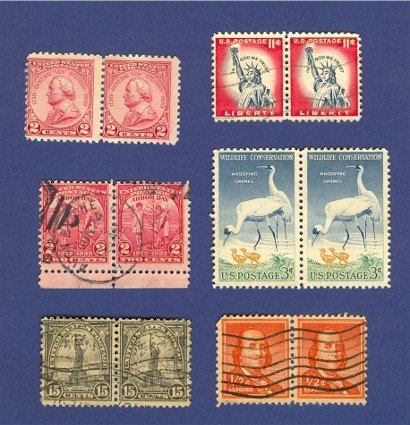 United States Stamps 6 Sets Horizontal Pairs Packet 25638