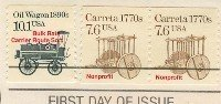 Carreta Coil Stamp 7.6 Pair FDI SC 2255 First Day Issue Transportation Issue