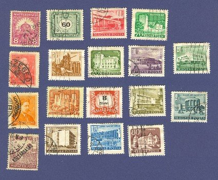 Hungary Packet No 4542 with 18 stamps
