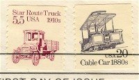 Cable Car Coil Stamp 20 cent FDI SC 2263 First Day Issue Transportation Issue
