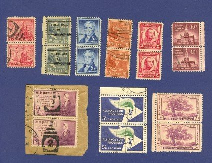 United States Stamps 9 Sets Vertical Pairs Packet 30630