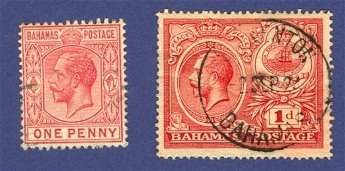 Bahamas  2 Stamps  1912 to 1920