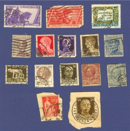 Italy Packet No 1467 with 13 stamps