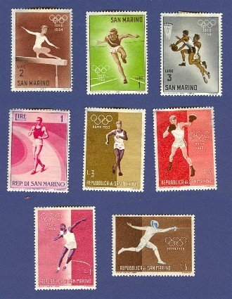 San Marino 8 stamps on the Olympics