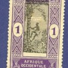 Dahomey 1 Stamp from 1913 to 1922  Packet No 2