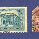 Morocco 2 stamps from 1914 to 1921